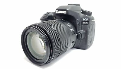 Canon EOS 80D 24.2MP DSLR Camera with EF-S 18-135mm IS USM Lens LOOK