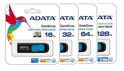 ADATA 128GB 64GB 32GB 16GB USB Drive 3.0 Memory Stick Retractable Thumb Drive