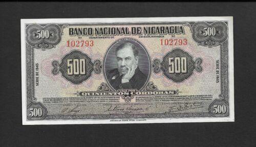 Nicaragua p-98 , UNC, 500 Cordobas, 1945