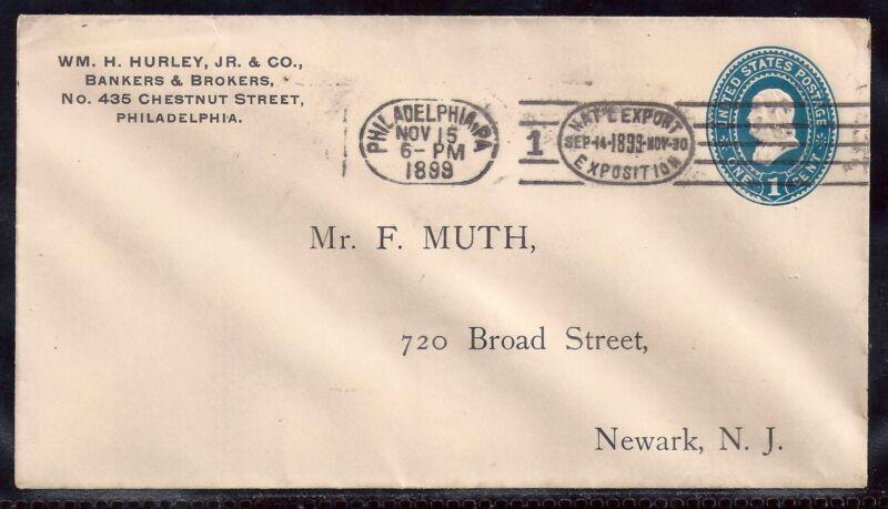 1899 Cover - Philadelphia National Export Exposition Machine Slogan Cancel