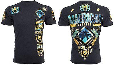 American Fighter Affliction Mens T Shirt Lander Biker Black Gym Mma Ufc  40