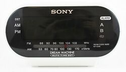 Sony Dream Machine ICF-C318 Automatic Time Set Clock Radio with Dual Alarm White