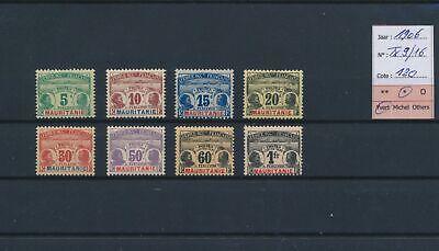 LO18782 Mauritania 1906 A.O.F. taxation stamps fine lot MH cv 120 EUR