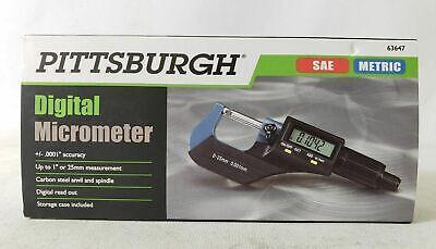 Pittsburgh Digital Micrometer - Sae Metric Model 63647
