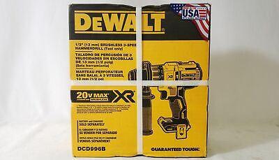 Dewalt Max Xr 20v Li-ion 12 Cordless Brushless Hammer Drill Dcd996b Tool Only