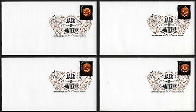 anterns, Digital Color FDC **ANY 4=FREE SHIPPING** (Digitale Briefmarken Halloween)