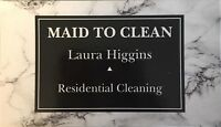 Residential cleaner looking for clients