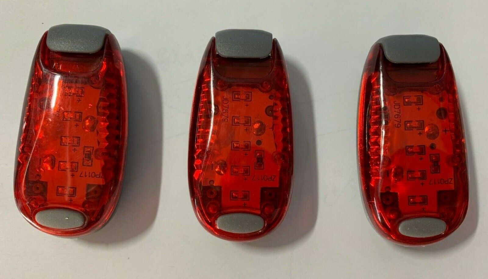 3pack led safety light clip on strobe