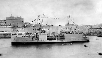 ROYAL NAVY SEAPLANE CARRIER HMS PEGASUS AT MALTA c 1921