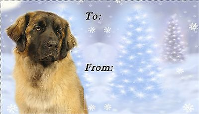 Leonberger Christmas Labels by Starprint