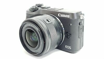 Canon EOS M6 24.2MP Digital Camera Black with EF-M 15-45mm Lens READ