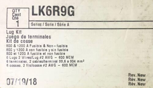 EATON CUTLER HAMMER LK6R9G 800 8 1200 AMP Safety Switch Lug Kit 2 600 MCM