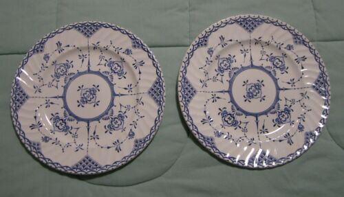 2 H Aynsley and Co. Copenhagen Pattern Ironstone Luncheon Plates Made in England