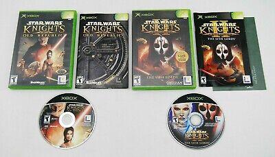 Star Wars Knights of the Old Republic I II 1 2 (Original Xbox) FREE CANADA SHIP!