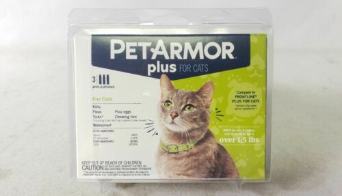 PetArmor Plus Flea Tick and Lice 3 Application Treatment for Cats and Kittens