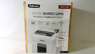 Fellowes Crc46300 Microshred 12ms Micro-cut Shredder