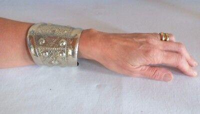 bracelet cuff Indonesia silvered metal