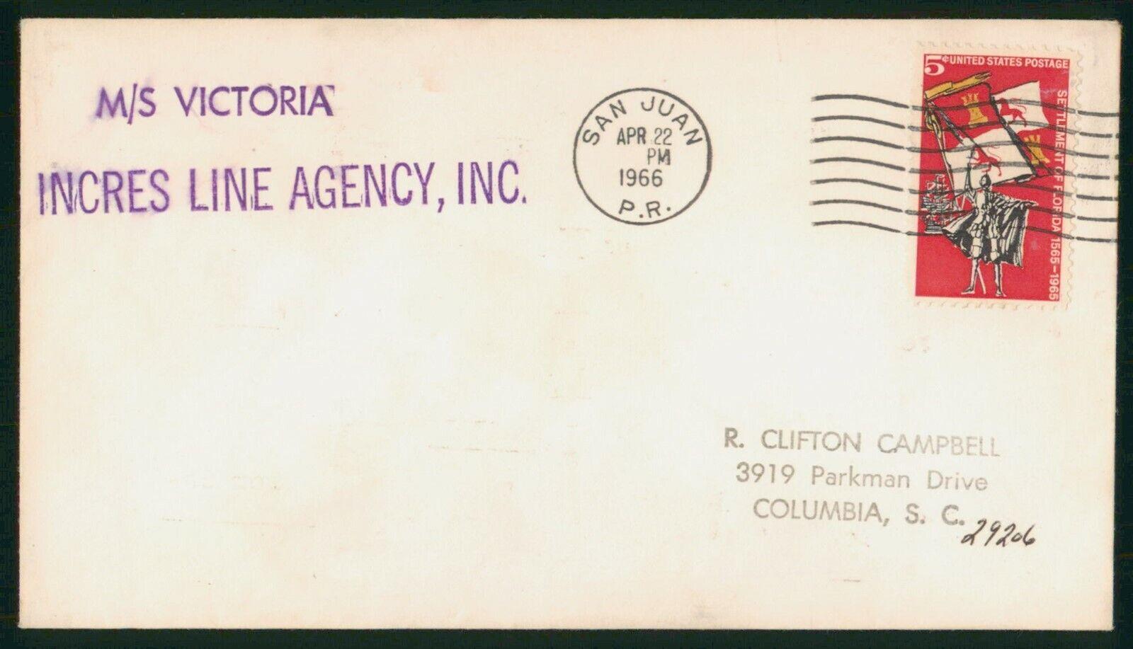Mayfairstamps US 1966 San Juan PR MS Victoria FL Settlement Cover Wwp 57723 - $1.00