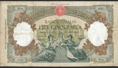 5000 LIRE {1947} ITALIAN CIRCULATED CURRENCY