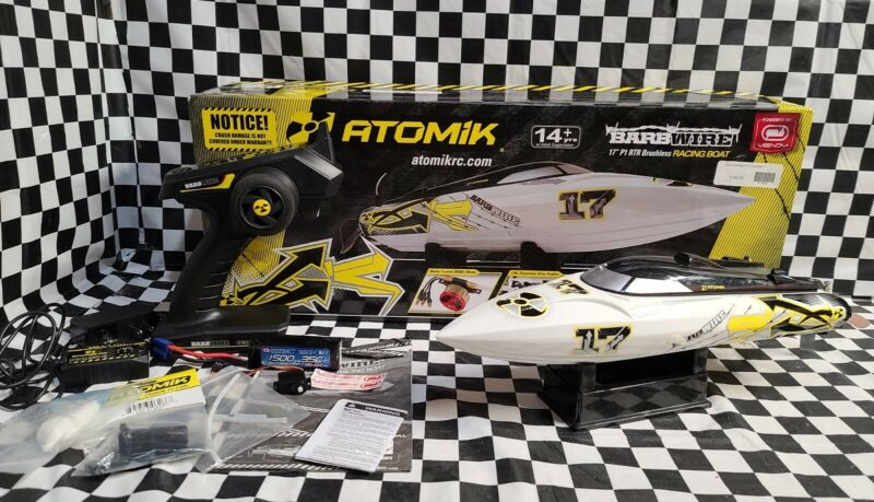 Atomik Barbwire 17 Brushless RC Boat with Extras