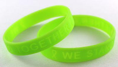 Lime Green Ribbon Awareness Silicone Bracelet