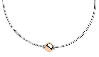 - Cape Cod Necklace 14k ROSE GOLD Gold Ball w/ 925 Sterling Silver Snake Chain