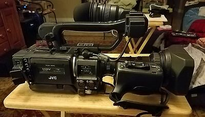 JVC GY-HD110 ProHD Camcorder Fujinon Th16x5.5BRMU SC46425-001-H - Black