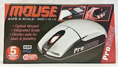 New ProScale Mouse Secret Diversion Safe & 500g X 0.1g Scale With Free Shipping