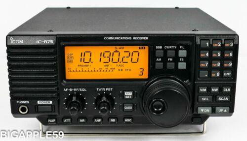 Icom IC-R75 Shortwave Amateur Radio Receiver w/ Sync Detector **GREAT DX UNIT**