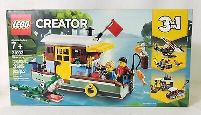 Lego Creator 3-in-1 Riverside Houseboat Building Toy Kit 396pcs 31093
