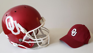 Oklahoma University Sooners' Football Helmet and Ball Cap