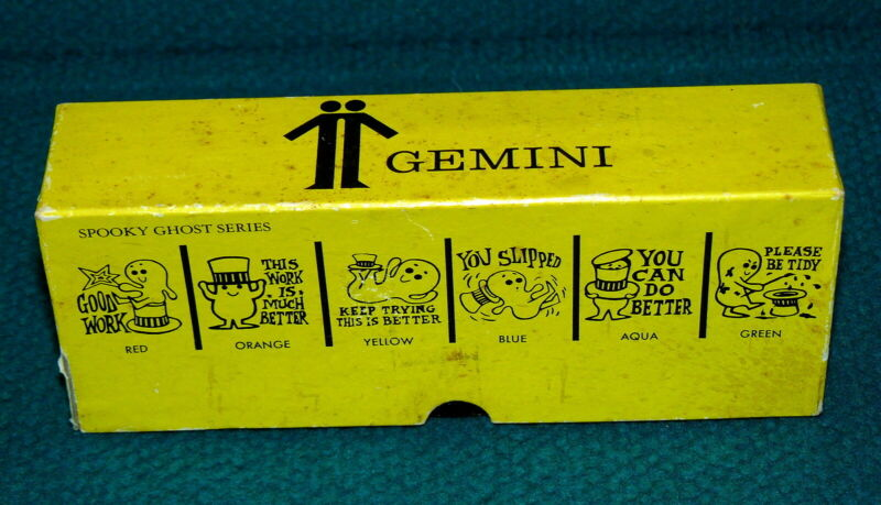 """1960s Vintage : TEACHERS """"Spooky Ghost"""" GEMINI STAMPERS Southport Grading Stamps"""