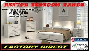 NEW WHITE Hardwood Timber Bedroom Range Single, Queen FREE DEL* Toowoomba Toowoomba City Preview
