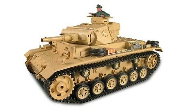 RC Panzer Panzer Kampfwagen III Rauch & Sound, 1:16, GHz