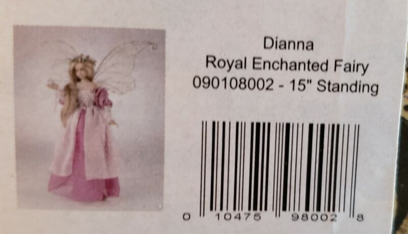 "WHISPERING WILLOW FAIRIES ROYAL ENCHANTED DIANNA FAIRY DOLL 15"" New MIB NOS"