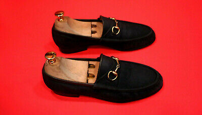 $649.00 !! GUCCI WOMEN'S  BLUE  SUEDE  ICONIC  LUXURY LOAFERS SHOES SIZE 36 B