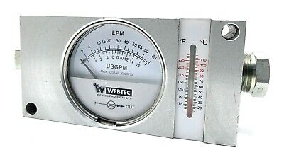 Webtec Alluminium Hydraulic Oil Flow Meter 2 To 30 Lpm Model Fi 750-60anot Bf28