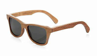 Shwood Canby Polarized Wood Sunglasses Houndstooth Frame Grey Lens Made in (Canby Woods)
