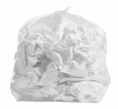 PlasticMill 33 Gallon, Clear, 1.3 Mil, 33x39, 100 Bags/Case, Garbage Bags.