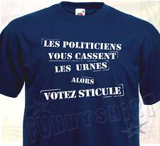 T-SHIRT VOTEZ STICULE - Humoristique Humour politique élections cadeau