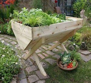 Large Garden Vegetable Veg Trough Wooden Timber Raised Bed Planter for Veg Herbs