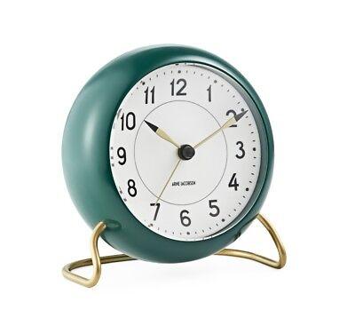 Rosendahl Arne Jacobsen table desk clock alarm racin green Station danish design