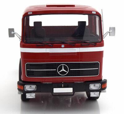 Road Kings 1/18 Modelo Diecast Camión Tractor Mercedes 1969 Rojo de Metal