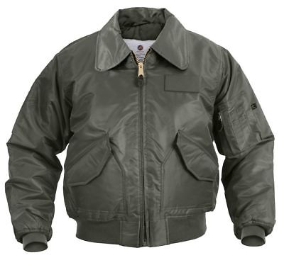 CWU-45P Flight Jacket Sage Green Rothco 7520 (Green Flight Jacket)