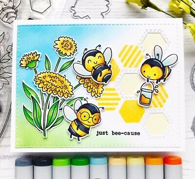 Bee Crafts For Kids - A happy little bee Clear rubber stamps/kids clear stamps and dies for Scrapbook