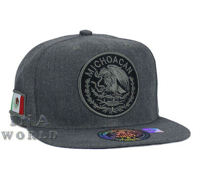 MEXICAN hat MEXICO Federal Logo State Snapback Baseball cap-MICHOACAN /Charcoal
