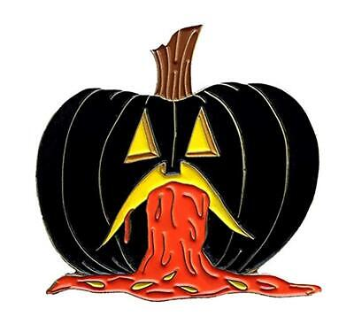 PUKING PUMPKIN V4 GID ENAMEL PIN BY - Puke Pumpkin
