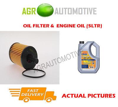 PETROL OIL FILTER + LL 5W30 ENGINE OIL FOR CITROEN SAXO 1.6 98 BHP 2000-03