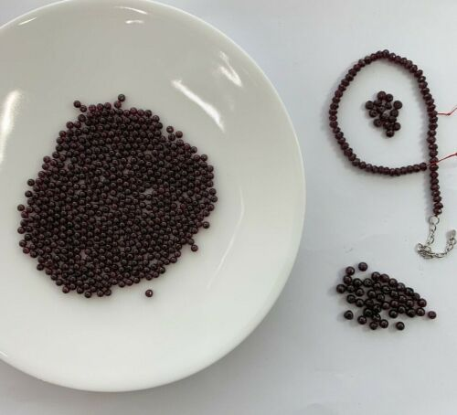 Lot of genuine Garnet beads round and faceted rondelle 3.6 - 4.5 mm #2W