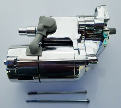 High Torque Chrome 1.7KW Angle Post Starter 89-06 Harley EVO Twin -